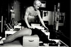 Joseph Pilates in his NYC Studio